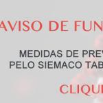 AVISO DE FUNCIONAMENTO